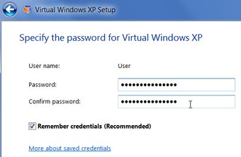 Password For Virtual Windows XP