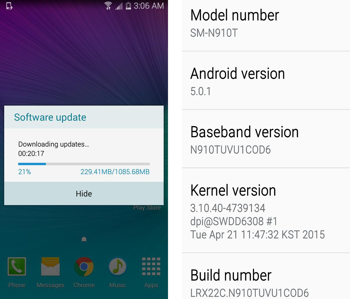 T-Mobile Samsung Galaxy Note 4 Finally Gets Android Lollipop OTA