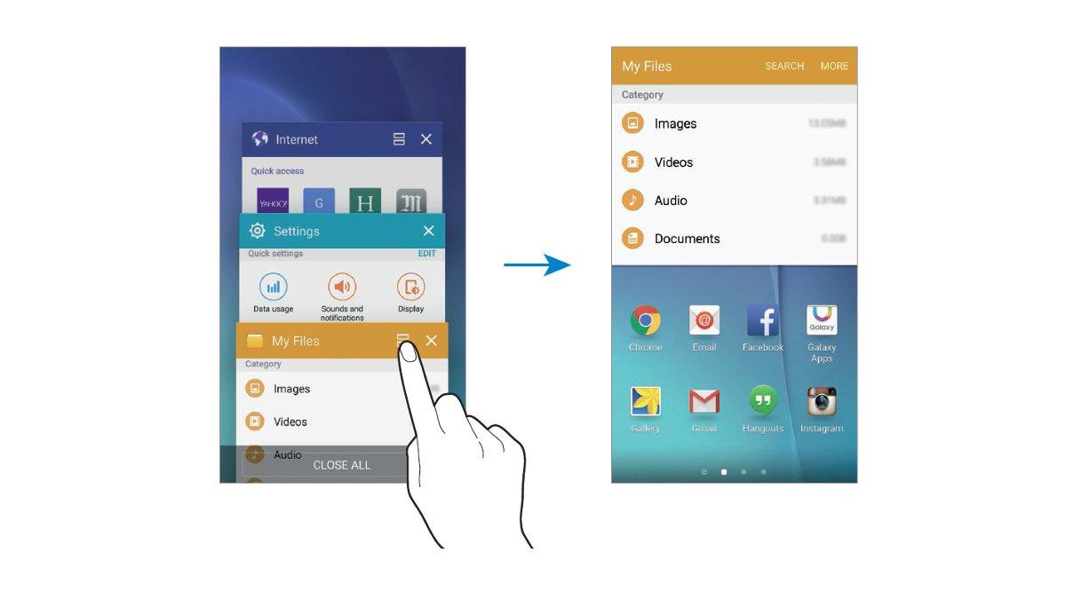 Galaxy S6 - Running Apps In Split Screen