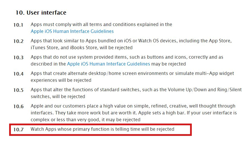 Apple Store Review Guidelines For Apple Watch