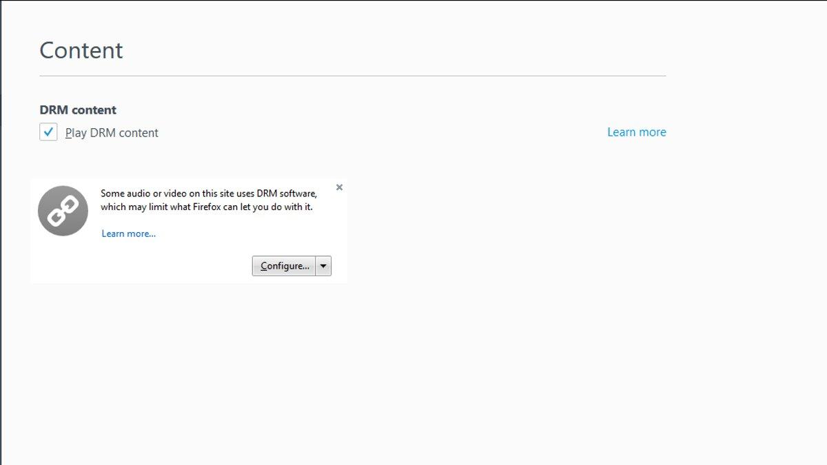Firefox - DRM Support
