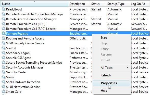 Windows 7 - Services