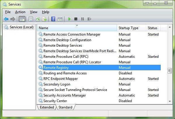 Windows Vista - Services