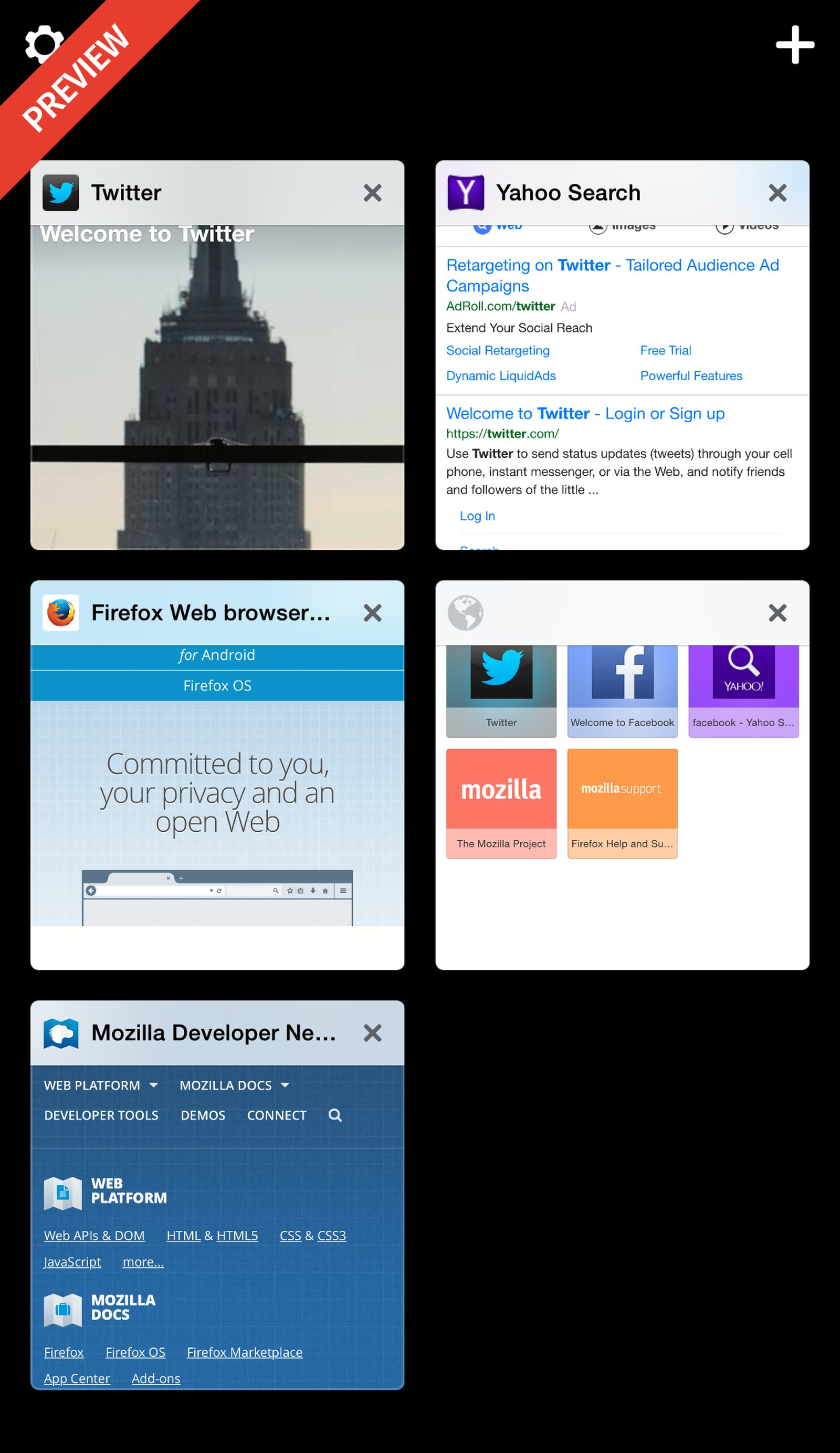 Firefox For iOS - Visual Tabs