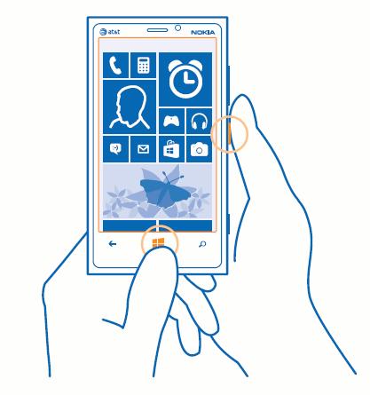 Как сделать скриншот с экрана nokia lumia 948