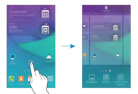 How To Use Home Screen - Samsung Galaxy Note 4 - Prime