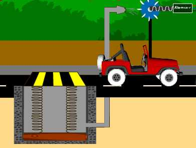 Electricity from speed breakers: Vehicle leaving the speed breaker