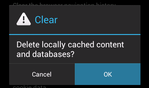 how to clear web browser cache on android