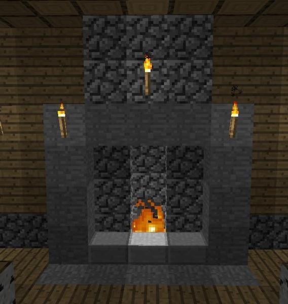 Build A Brick Fireplace With Chimney In Minecraft Prime Inspiration