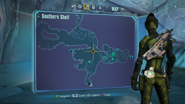 Borderlands 2 Southern Shelf Map