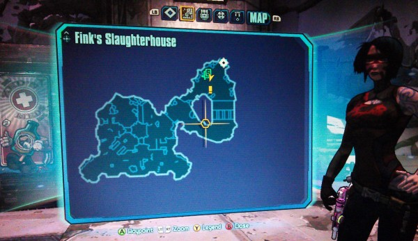 Borderlands 2 The Fridge Map