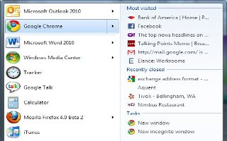Windows 7 - Attach Websites To Jump Lists Independent Of The Browser
