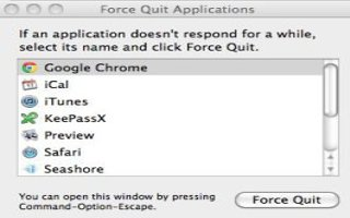Close An Application, Not Responding On The Mac