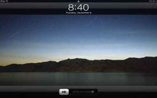 Lock the iPad Screen