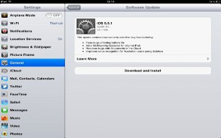 Updating iPad Software