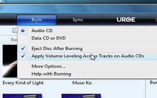 windows media player burn audio cd