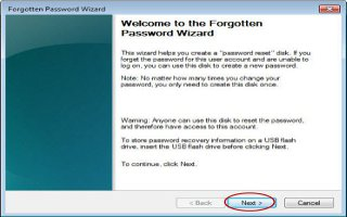 Use A Password Reset Disk If You Forgot Windows Password