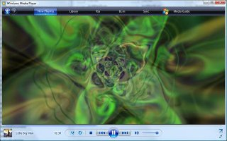 add music colors visualizations into windows media player prime