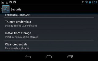 How To Work With Certificates On Nexus 7