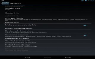 How To Encrypt Your Nexus 7