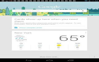 How To Use Google Now Cards On Nexus 7