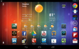 How To Browse Home Screens On Nexus 7