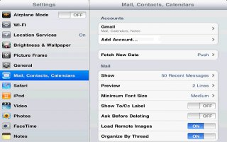How To Use Mail Accounts And Settings On iPad