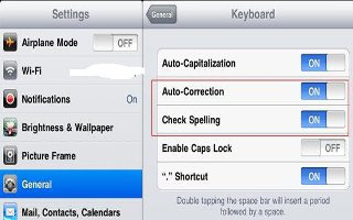 How To Use Auto Correct And Spell Check On iPad