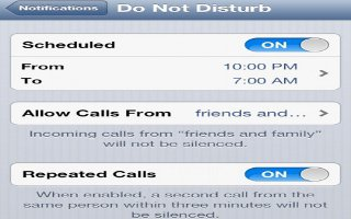 How To Use Do Not Disturb And Notifications On iPhone 5