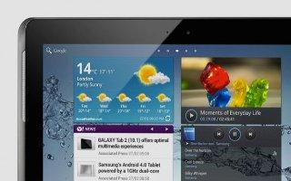 How To Use Mini App Tray On Samsung Galaxy Tab 2