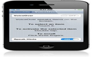 VoiceOver On iPhone 5