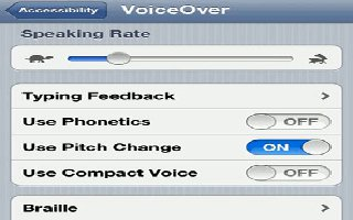 How To Use VoiceOver On iPhone 5