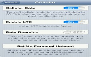 How To Use Cellular On iPhone 5
