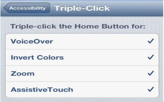 How To Use Triple Click Home On iPhone 5