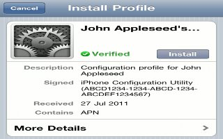 How To Use Configuration Profiles On iPhone 5