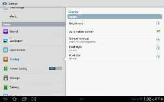 How To Use Display Settings On Samsung Galaxy Tab 2