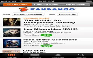 Free Fandango Movies Times & Tickets For iPhone 5