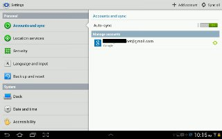 How To Use Personal Settings On Samsung Galaxy Tab 2