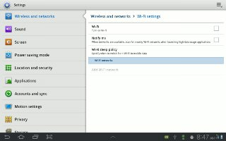 How To Customize WiFi On Samsung Galaxy Tab 2