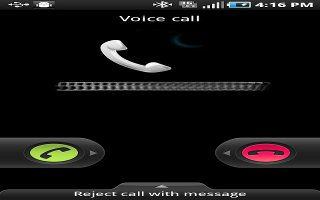 call reject on samsung galaxy mini