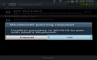 How To Pair Bluetooth Devices On Samsung Galaxy Note 2