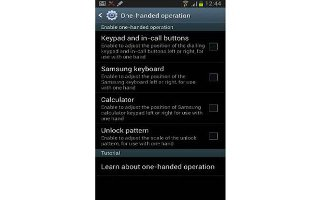 How To Use One Handed Operation On Samsung Galaxy Note 2