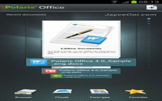 How To Use Polaris Office On Samsung Galaxy Note 2