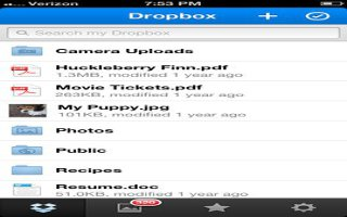 Dropbox For iOS Update Adds Features And Notifications