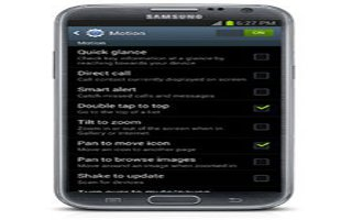 How To Use Motion Settings On Samsung Galaxy Note 2