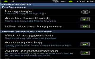 How To Use Swype Settings On Samsung Galaxy Note 2