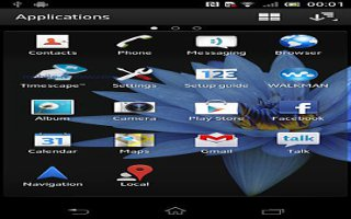 How To Use Applications Menu On Sony Xperia Z