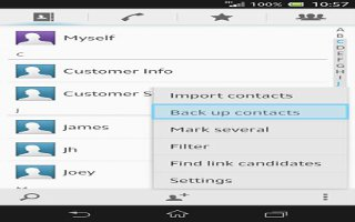 How To Backup Contacts On Sony Xperia Z