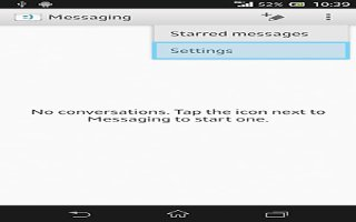 How To Use Message Options On Sony Xperia Z