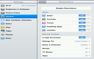 How To Use Restrictions On iPad Mini
